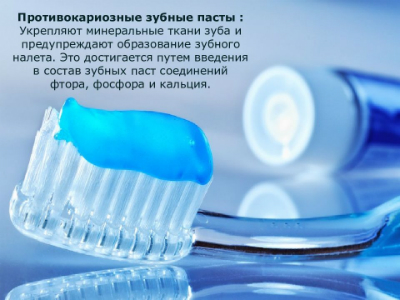 Противокариозные зубные пасты